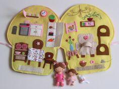 Karácsonyi óriás muffin játszókönyvecske (rózsaszín)-hasonló rendelhető!, Baba-mama-gyerek, Játék, Baba, babaház, Készségfejlesztő játék, Meska