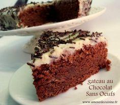 gateau au chocolat sans oeufs, recette delicieuse - Amour de cuisine