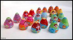 poupées en papier roulé puis peint by trèfle de perles
