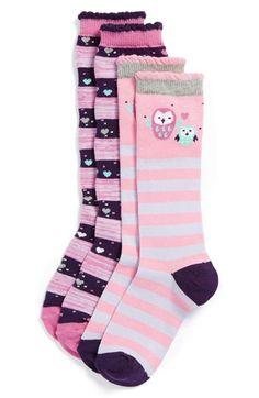Nordstrom 'Peek-A-Hoo' Knee High Socks (Toddler Girls & Little Girls) Toddler Girl Shoes, Toddler Girls, Girls Shoes, Leggings, Tights, Cute Socks, Kids Socks, Knee High Socks, Ten