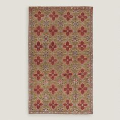 One of my favorite discoveries at WorldMarket.com: 4'3'x7'2' Vintage Repeating Medallion Turkish Area Rug