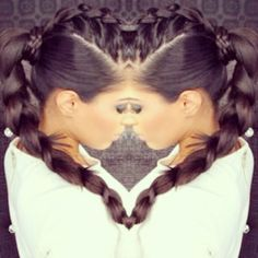 ♥ Braided ponytail gorg