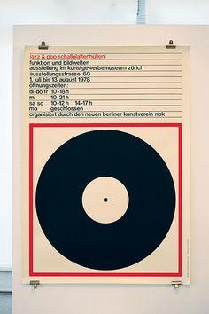 <Jazz & Pop Schallplattenhullen (purple)> by Markus Bruggisser, 1978 Graphic Design Typography, Graphic Design Art, Graphic Posters, Illustrations, Graphic Illustration, International Typographic Style, Jazz Poster, Circle Game, Poster Layout