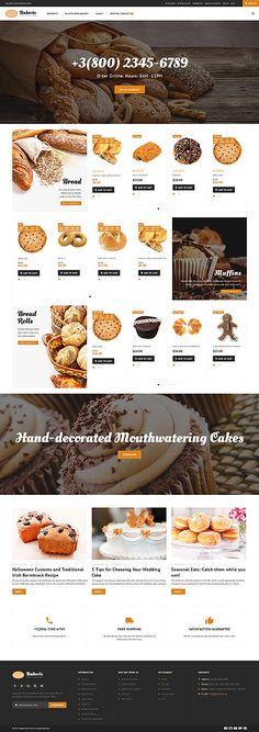 Bakery Responsive Shopify Theme - Shopify Website Builder - Build the Shopify Ecommerce site within 30 minutes. Bakery Website, Tea Website, Bakery Store, Bakery Menu, Online Bakery, Custom Website Design, Bakery Business, Order Food, Web Design Inspiration