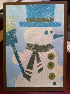 """""""Blue Snowman"""" card"""