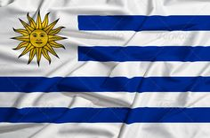 Uruguay flag on a silk drape waving ...  abstract, america, background, banner, blowing, blue, cotton, country, crease, design, emblem, fabric, flag, fold, freedom, government, history, holiday, icon, illustration, landmark, liberty, nation, national, patriot, patriotic, patriotism, proud, ripple, seams, sign, silk, stitches, stripe, sun, symbol, textile, texture, uruguay, wave, white, wind, world, wrinkles