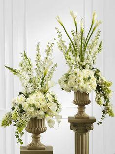 Pastel pedestal arrangements - Google Search