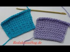 Tunisian Crochet - Lifting - hem - avoid curling - Veronika Hug (IN GERMAN - If you are familiar with Tunisian Crochet you can watch this video to learn this stitch... The video is very good... Deb)