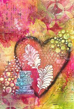 Χάπυ Φιτ from THE DYAN REAVELEY SOCIETY OF ART JOURNALING Gateway Group on FB - Art Journal Page: Limits; she does beautiful work... https://www.youtube.com/watch?v=3YjU-c4s3a0