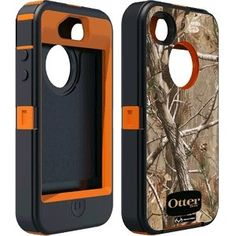 Otterbox Defender Realtree Series Hybrid Case & Holster for iPhone 4 & 4S  - Retail Packaging - Blaze Orange/AP Camo Pattern $36.76