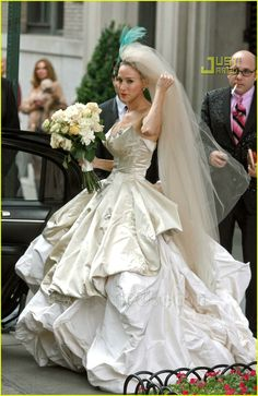 Sex and the City: There's a Wedding in the Works!  http://www.justjared.com/photo-gallery/627061/sarah-jessica-parker-wedding-dress-25/#
