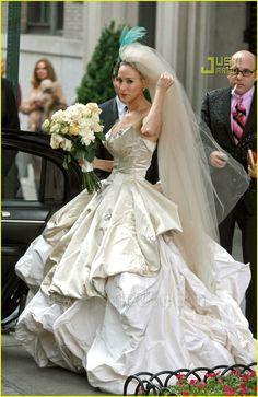 1000 images about celebrity wedding dresses on pinterest for Sarah jessica parker wedding dress