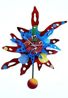 Modern Supreme Wall Clock created by artist David Scherer / http://firenet.tv