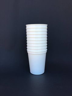 Blank Stadium Cups, Party Supplies, Football Party, Blank Cups, Plastic Cups, White Party Theme, Sports Party, White Cups, DIY Party Cups