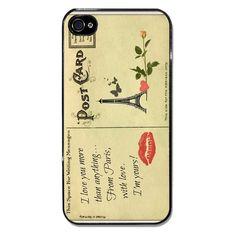 #vintage #postcard #cartolina #love #amore #paris #parigi  Cover per iPhone e Samsung Galaxy, smartphone case, tutte personalizzabili e con grafiche allegre e colorate a tema moda, bellezza, fashion, makeup, macaron, cupcake, cioccolato, dolci, caramelle, quadri, arte, viaggi!  Gattablu Shop Online: www.gattablu.it