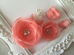 Mariage Pince cheveux fleur de mariée Rose pour coiffure de mariage Ada : Accessoires coiffure par fleurs-de-provence