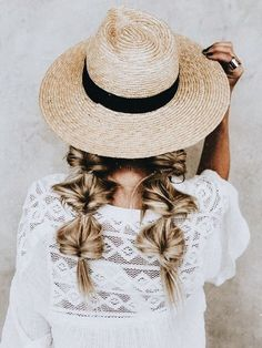 Creative, adorable, perfect looking not-so-perfect hair style for hat days! 😍