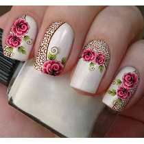 adesivos impressos para unhas passo a passo - Pesquisa Google Rose Nails, Flower Nails, Creative Nail Designs, Creative Nails, Fancy Nails, Bling Nails, Fabulous Nails, Gorgeous Nails, Stylish Nails