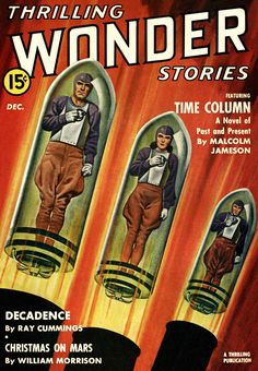 Sci Fi Thrilling Wonder Stories Featuring The Time Column