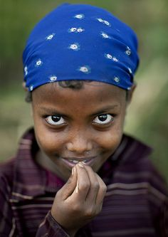Young Ethiopian girl with expressive eyes