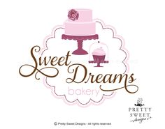 Plum logo pink cake illustration bakery logo cupcake on cake stand pink logo dessert illustrations bakery label by MyPrettySweetDesigns on Etsy Bakery Slogans, Bakery Logo, Cake Logo Design, Custom Logo Design, Bakery Business Cards, Business Logo, Mickey Mouse Background, Bolo Paris, Cake Sketch