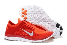 Nike Free Flyknit 4.0 Men's Running Shoe Red White