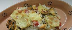 Tiella di riso patate e cozze-ricetta pugliese