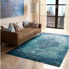 """Machine-Made Kingsley Villa Polyester with Polypropylene Rug (7'10"""" x 9'10"""") 