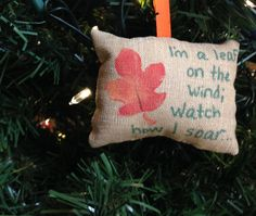 Wash Yellow I'm a Leaf on the Wind Watch How I Soar Christmas Tree Ornament Firefly Serenity Browncoat Mal Reynolds Kaylee Zoe FREE SHIPPING by HollyAndHerHobbies on Etsy