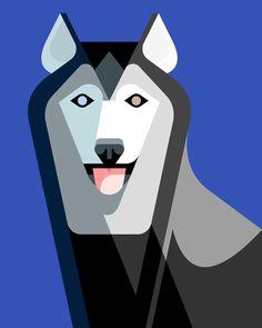 Alaskan Husky Portrait - Lumadessa