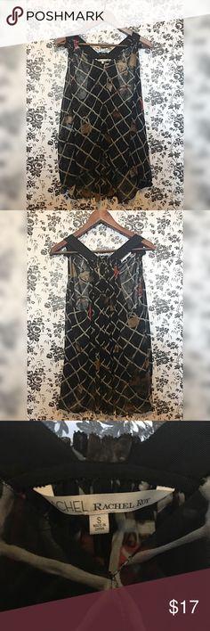 Rachel Rachel Roy locks chiffon blouse top - Small Rachel Rachel Roy chiffon blouse top with locks design  Size small  Very flowy  100% polyester RACHEL Rachel Roy Tops Blouses