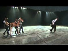 Joey, of WarHorse, meets Providence Mounted Command horses - YouTube