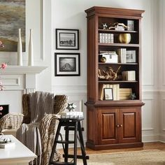Amityville Armoire & Reviews | Joss & Main Cube Bookcase, Etagere Bookcase, Bookshelves, Sideboard, Open Shelving, Adjustable Shelving, Cool Furniture, Living Room Furniture, Family Photo Frames