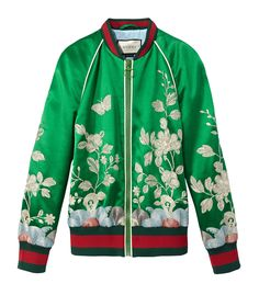 Gucci Silk Floral Bomber Jacket