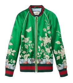 Gucci Silk Floral Bomber Jacket