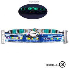 Bracelet Fluo blue (phosphorescent) Hipanema - Summer 2014 - en vente sur www.lilishopping.com  #hipanema #fluo #phosphorescent