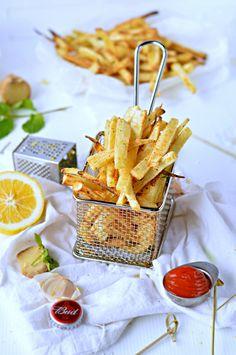 Parsnip fries with Garlic, Mint & Lemon |Low calories