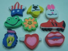 The first time you realized that these are simultaneously the coolest and least functional erasers ever: | 50 Things You Will Never Be Able To Forget