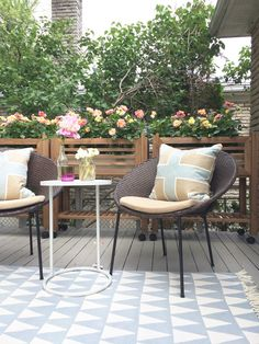 My little stack chairs, featured in Style At Home design blog. #outdoorliving #furnituredesign #atleisure