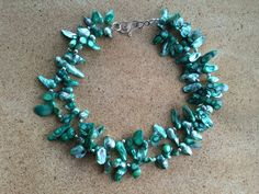 Mint green 2strand freshwater dancing pearl by NeckCandyLove