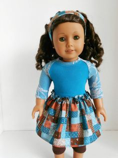Teal and Brown Playdate 4 Piece Outifit for by DolzDreamzzz, $18.00