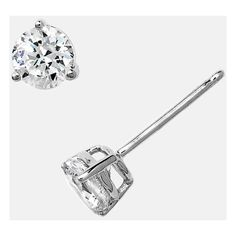 Women's Nordstrom Precious Metal Plated 1Ct Tw Cubic Zirconia Earrings ($42) ❤ liked on Polyvore featuring jewelry, earrings, sterling platinum, metal jewelry, hand crafted jewelry, stud earrings, sparkly earrings and cz jewellery