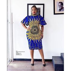 Simple and Elegant Ankara Short Gown Styles : Simple Styles.Simple and Elegant Ankara Short Gown Styles : Simple Styles African Print Dresses, African Dresses For Women, African Wear, African Attire, African Fashion Dresses, African Women, African Prints, Ankara Fashion, African Outfits
