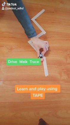 Learn and play with tape. Kids activities.