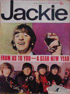 SIXTIES BEAT: The Beatles - Jackie N° 52 January 1965
