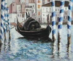 """Edouard Manet, """"The Grand Canal, Venice II""""  placed 9th in overstockart.com Top 10 Most Romantic Oil Paintings for Valentine's Day 2015.  #art"""