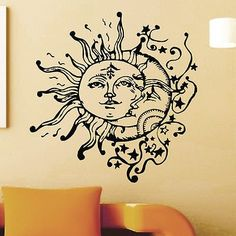 Vinyl Wall Sticker Decals Sun Crescent Ethnic Dual Symbol Moon Decal Z714 * You can get more details here (This is an amazon affiliate link. I may earn commission from it)