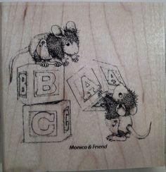"#HouseMouse ""Baby Blocks"" #RubberStamp http://www.ebay.com/itm/262363474968?ssPageName=STRK:MESELX:IT&_trksid=p3984.m1555.l2649 #cardmaking #papercraft #copic #crafting #scrapbooking"