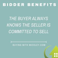 Bidder Benefits! #BuyingWithMicoley #Micoley #RealEstate #BidderBenefits