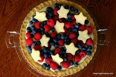 Meaningful Mama: Red, White and Blue Fourth of July Sugar Cookie Tart